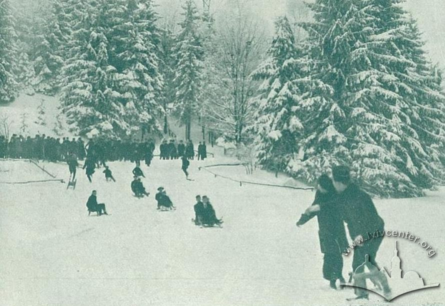 Парк Кілінського (сучасний Стрийський), зима 1914-1915 рр.