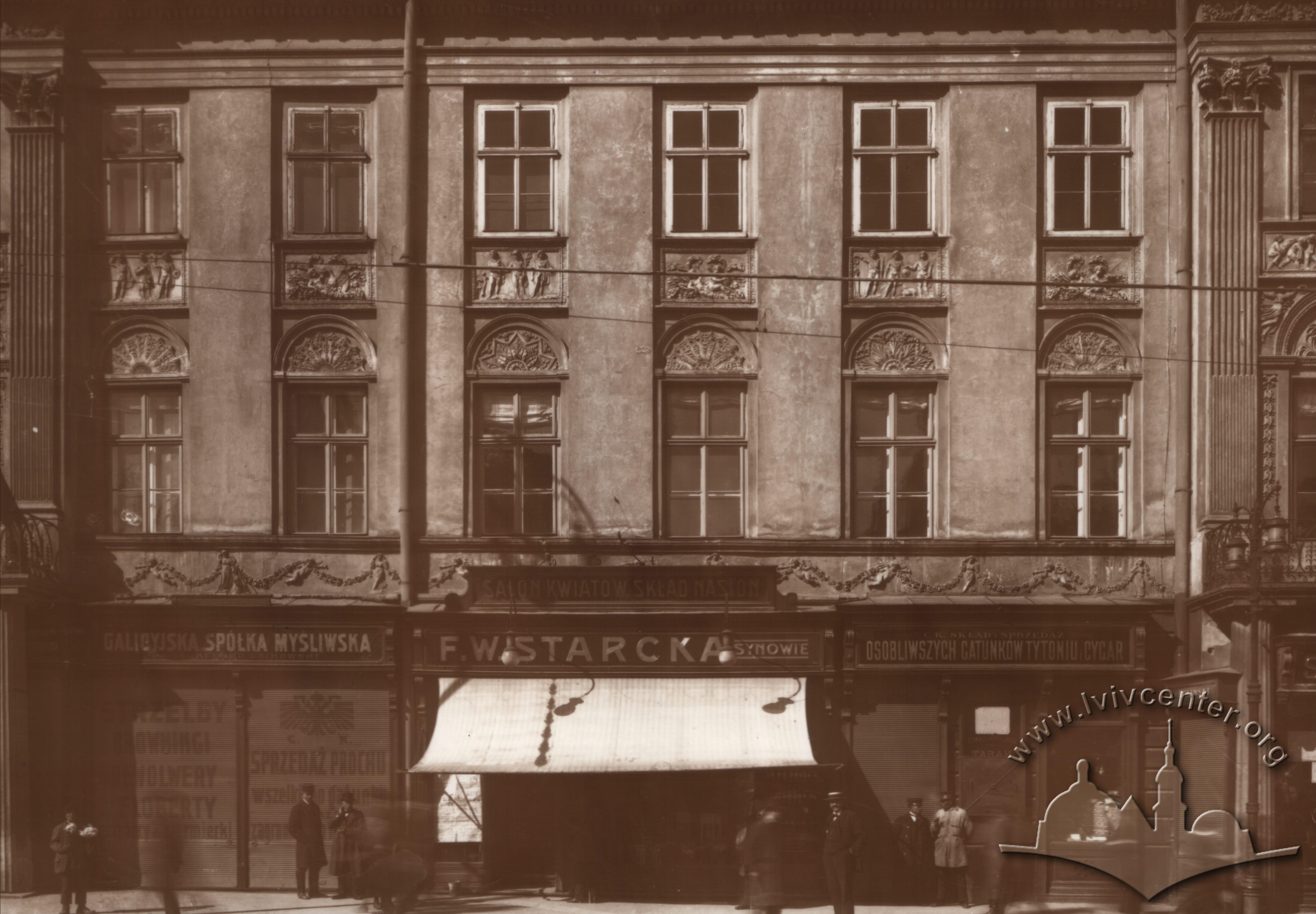 Магазини на вулиці Карла Людовіка (сьогодні просп. Свободи), 1915 р.