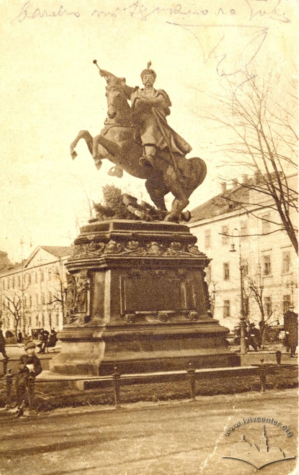 Пам'ятник Яна Собеського, зима 1914-1915 рр.