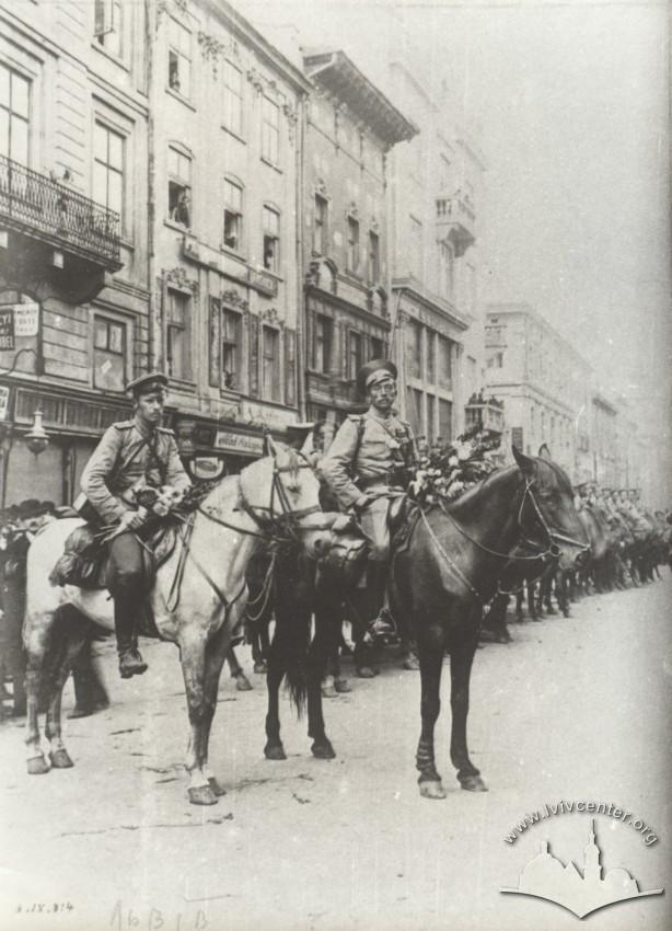 Перший російський козацький патруль, 1914
