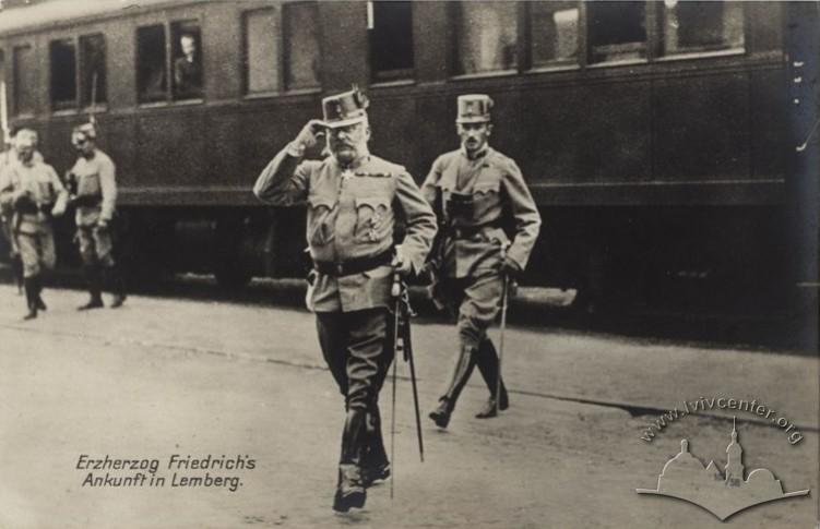 Приїзд до Львова ерцгерцога Фрідріха, 1915 р.