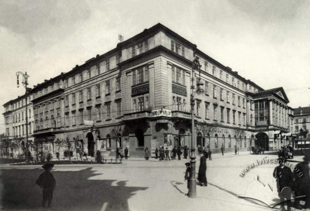 Кінотеатр «Лев» у театрі Скарбека, 1910-ті рр.