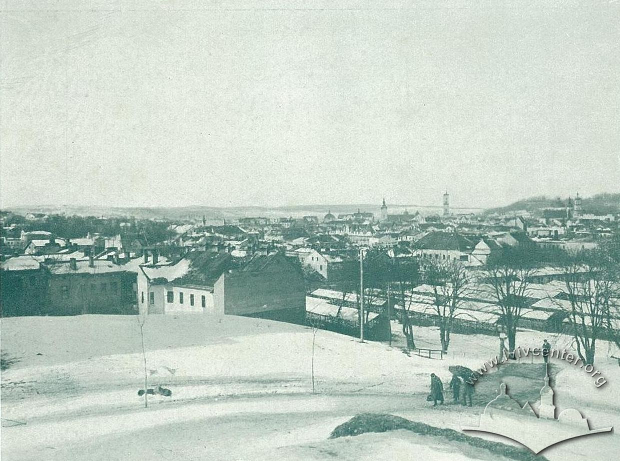 Єзеїтський сад біля будинку Галицького Сейму, 1916 р.