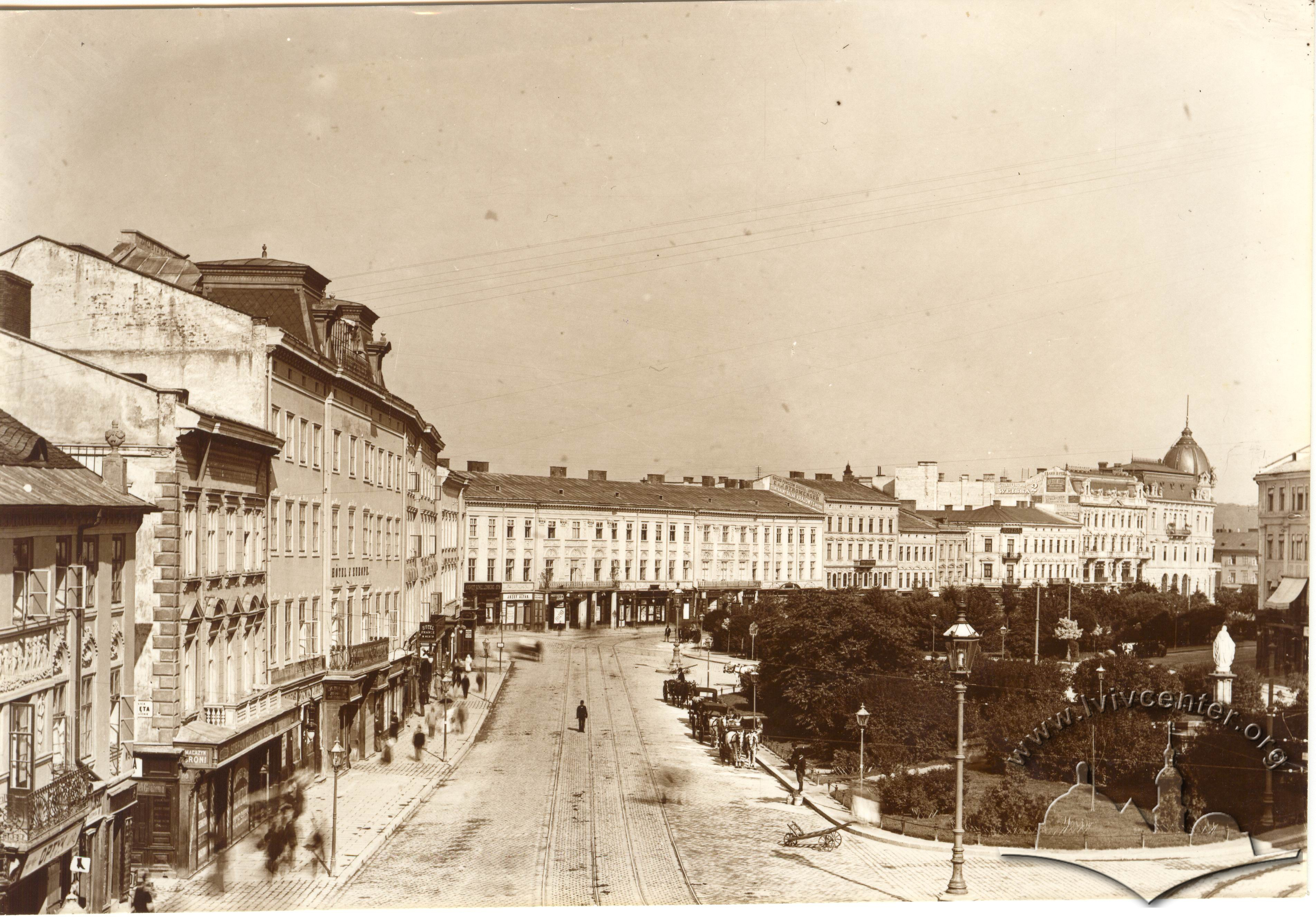 Вулиця Карла Людовіка (сучасний просп. Свободи), 1914-1917 рр.