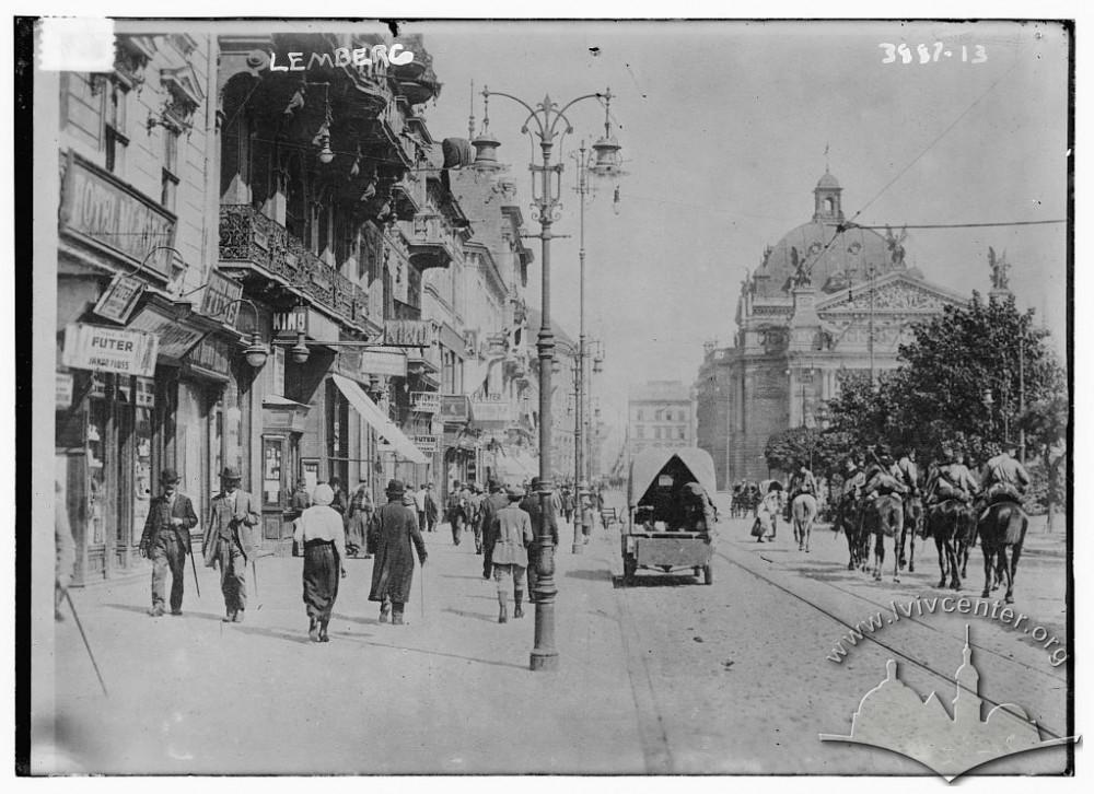 Вулиця Карла Людовіка (сучасний просп. Свободи), 1914-1915 рр.